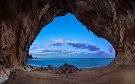 landscape, Nature, Beach, Cave, Sand, Rock, Sea, Clouds ...