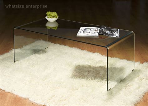 bent glass end table bent glass coffee table clear