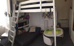 ikea stora black double loft bed cabin high posot class