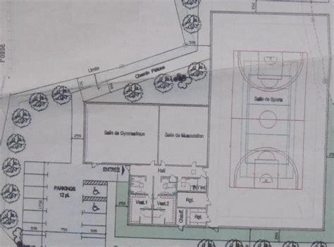 salle de sport plan l avant projet de la salle de sports pr 233 sent 233 le de la commune de pluzunet