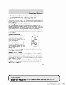 Lincoln Aviator 2005 Owners Manual  368 Pages   Page 160