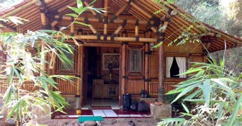 simple bamboo house design houses pinterest bamboo house house  cabin