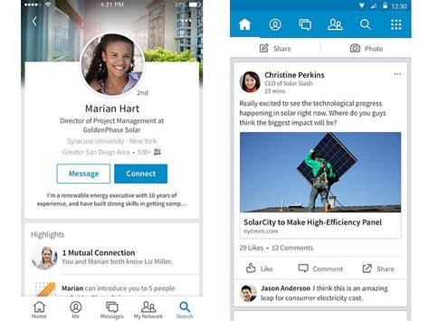 linkedin s redesigned mobile app now available for android and ios technology news