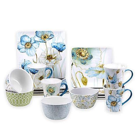 poppy dishes dinnerware certified international greenhouse poppy dinnerware collection bed bath beyond