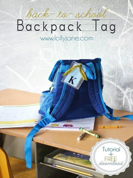 school diy backpack tag lesson plans