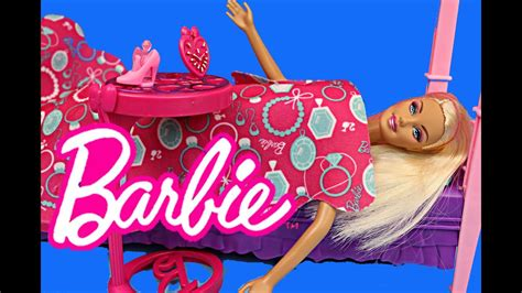 barbie bedroom furniture toy review barbie    bed