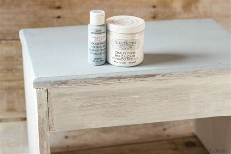 Americana Decor Chalky Finish Paint In Everlasting by Chalky Paint Stool Makeover