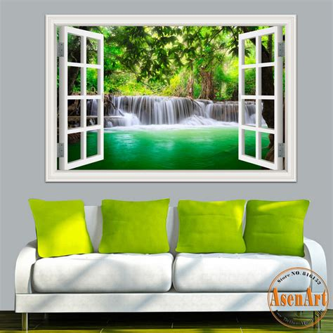 Wall Mural Decals Nature by 3d Window View Wall Sticker Decal Sticker Home Decor