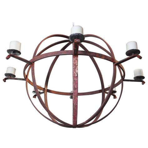 large industrial chandelier large industrial orb eight candle chandelier for at