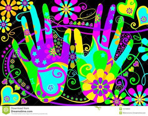 stylised hippie hands stock illustration image  pattern