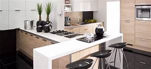 cuisines monaco modernes contemporaines design linea With cuisine moderne blanc laque