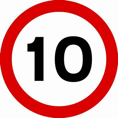 Speed Limit Sign Signs Road Svg Mph