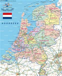 Detailed Map of Holland Netherlands