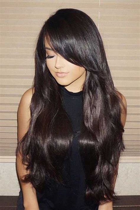 amazing  ideas  long brown hairstyles hairstyles