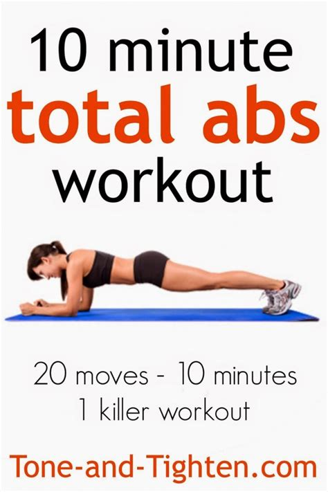 workout abs minute total ab tone workouts minutes tighten killer moves exercise challenge weights less weight lose exercises core min
