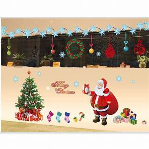 christmas wall decor home design With what kind of paint to use on kitchen cabinets for christmas glitter stickers