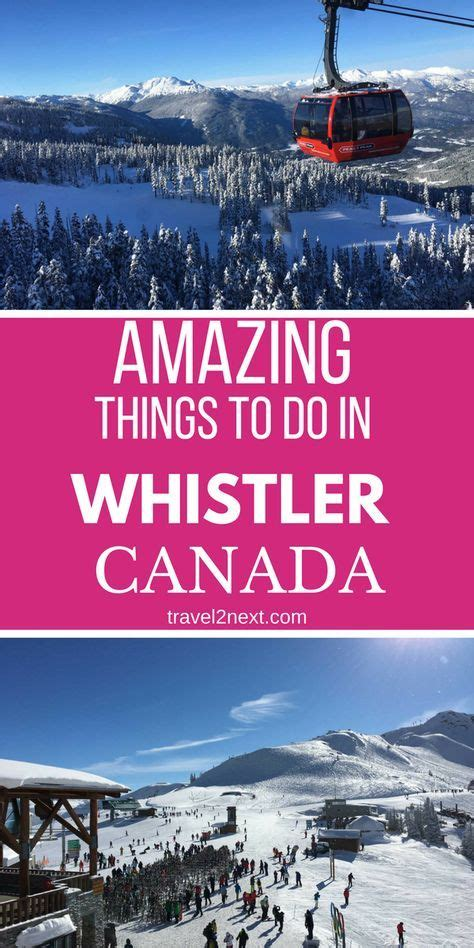 whistler winter things canada travel