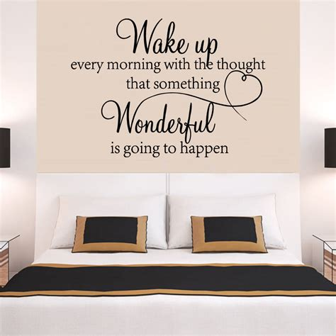 stickers phrase chambre adulte family wonderful bedroom quote wall stickers