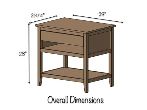end table with drawer and shelf diy bedside table with drawer and shelf free plans