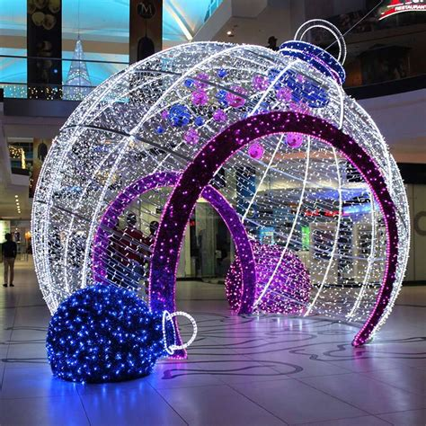 outdoor decorative big led light christmas balls outdoor
