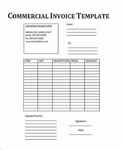 18 free commercial invoice templates sample templates With commercial invoice form template