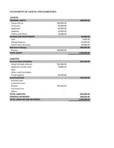 Free Flow Template Excel 10 Best Images Of Asset And Liability Statement Template Personal Assets And Liabilities