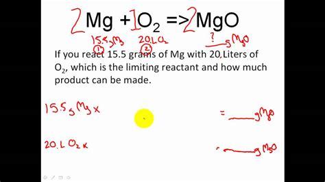 Stoichiometry  Limiting Reactant & Excess Reactant Stoichiometry & Moles Youtube