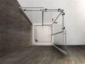 Schiebetür 80 Cm : area 80 x 80 cm glas schiebet r dusche duschkabine duschwand duschabtrennung ~ Markanthonyermac.com Haus und Dekorationen