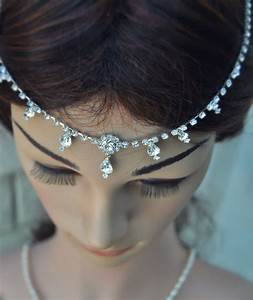 50% OFF Wedding Tikka Headpiece Indian Inspired Crystal