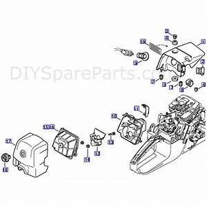 Stihl Ms 361 Chainsaw  Ms361 C  Parts Diagram  Shroud