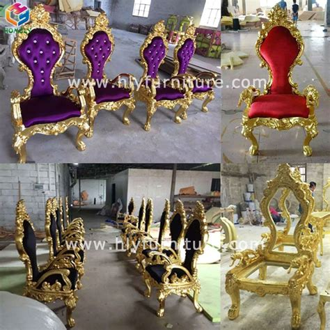 crown royal king chair homely wholesale cheap rental wooden golden royal baroque