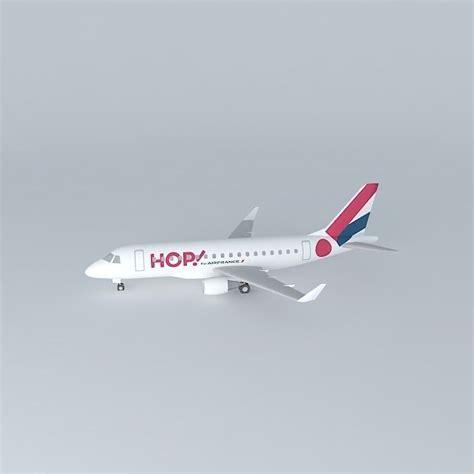 Hop for Air France Hop Airline ERJ 170ST ... free 3D Model .max .obj .3ds .fbx .stl .skp ...