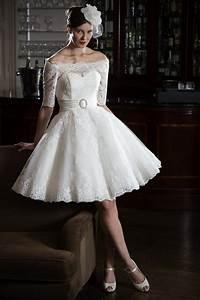 gia tea lengh lace short off shoulder wedding dress With off the shoulder short wedding dress