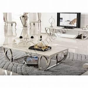 Table Basse En Solde : table basse design en marbre ~ Teatrodelosmanantiales.com Idées de Décoration