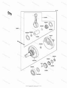 Kawasaki Motorcycle 2006 Oem Parts Diagram For Crankshaft