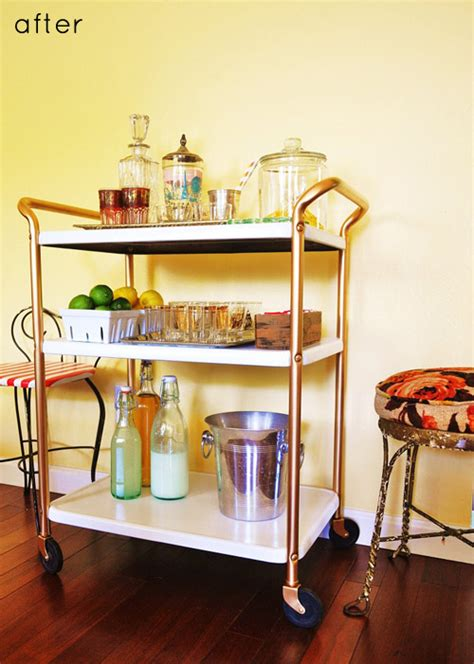 After You D before after bar cart redo design sponge