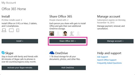 Can't Find An Invitation To Share Office 365