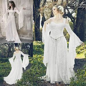 White lace long sleeve victorian gothic wedding dresses for Plus size victorian wedding dresses
