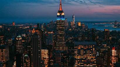 Night Lights Skyscraper York Background 1080p Usa