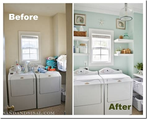 laundry room makeover sand and sisal