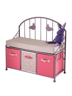 banc chambre enfant banc de lecture fille paradise bird vertbaudet enfant