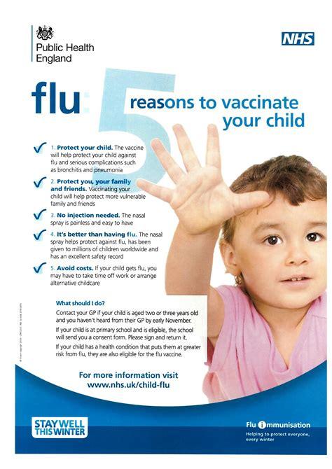 reasons  ensure  child   flu vaccination