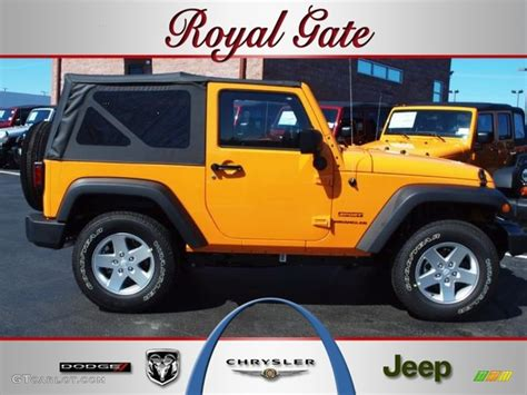 yellow jeep interior 2012 dozer yellow jeep wrangler sport s 4x4 62159028