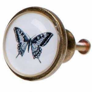 Poignée De Meuble Vintage : uniques boutons verre peint meuble poign e vintage us chic oiseaux insectes ebay ~ Teatrodelosmanantiales.com Idées de Décoration