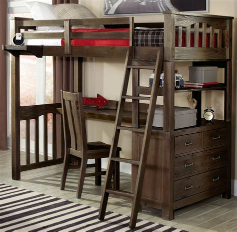 double bunk bed with desk highlands espresso twin loft bed with desk 11070nd ne kids