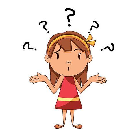 girl wondering illustrations royalty  vector