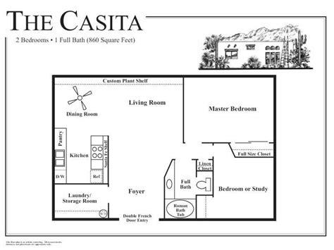 guest house floor plans  casita dream home ideas