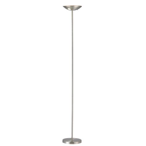 dimmable led torchiere floor l globe electric in satin white led floor l torchiere