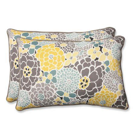 gray and blue pillows set of 2 yellow blue and gray flor grande outdoor corded