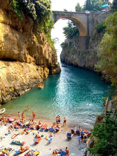 Beautiful Beach Furore Amalfi Coast Italy Earth Pics
